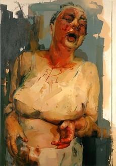 Jenny Saville, Pause, 2002–03 Oil on canvas, 120 × 84 inches (304.8 × 213.4 cm)© Jenny Saville