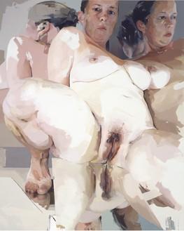 Jenny Saville, Reflective Flesh, 2003 Oil on canvas, 120 ⅛ × 96 1/16 inches (305.1 × 244 cm)© Jenny Saville
