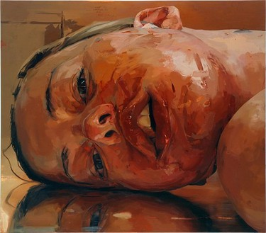 Jenny Saville, Reverse, 2002–03 Oil on canvas, 84 × 96 inches (213.4 × 243.8 cm)