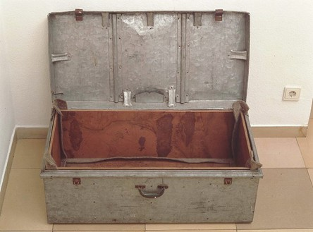 Joseph Beuys, Filter, 1983 Zinc trunk with lid, 4 copper plates, felt, 14 ¼ × 35 ½ × 19 1/3 inches (36 × 90 × 49 cm)