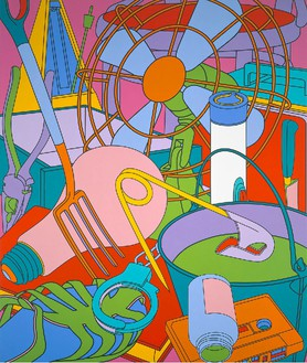 Michael Craig-Martin, Eye of the Storm, 2002 Acrylic on canvas, 132 × 110 inches (335.3 × 279.4 cm)