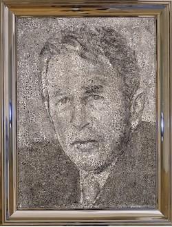 Richard Artschwager, Geo. W. Bush, 2002 Acrylic on Celotex in artist's frame, 26 × 20 inches (66 × 50.8 cm)