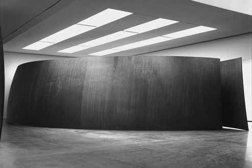 "Richard Serra, Blindspot, 2003 (view 1) Weatherproof Steel, 14' × 60' × 29' 6"" (4.2 × 18.3 × 90 m)© Richard Serra, photo by Rob McKeever"