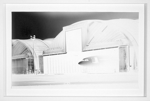 Vera Lutter, Lemwerder Airbase: August 19, 1997, 1997 Unique gelatin silver print, 12 ¾ × 21 inches (32.4 × 53.3 cm)