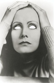 Douglas Gordon, Blind Star series: Mirror Blind Greta, 2002 26 × 24 inches framed (66 × 61 cm). Photograph and archival museum board