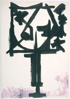David Smith, Untitled, 1954 Egg ink and gouache on paper, 42 ⅞ × 29 ⅞ inches (108.9 × 75.9cm)