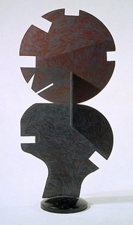 David Smith, Dida's Circle on a Fungus, 1961 Painted steel, 100 × 47 × 16 inches (254 × 119.4 × 40.6cm)