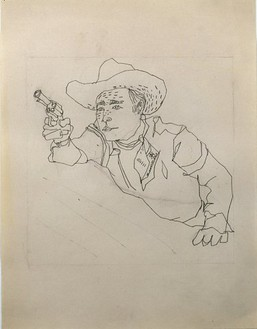 Andy Warhol, Untitled (Roy Rogers), 1948 Pencil on paper, 11 × 8 ½ inches (27.9 × 21.6 cm)