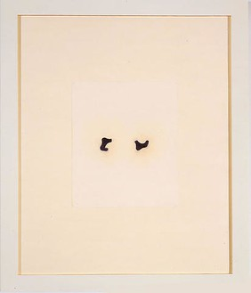 Robert Therrien, No title (small black running feet), 2001 Japan color and pencil on paper, 35 ¾ × 30 ⅛ inches (90.8 × 76.5 cm)