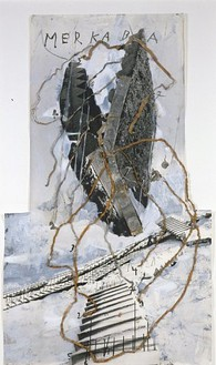 Anselm Kiefer, Untitled (Merkaba), 2003 Painted photograph with metal, 56 × 32 inches (142.2 × 81.3 cm)