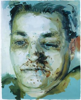 Jenny Saville, Untitled (Paint Study), 2004 Oil on watercolor paper, 59 13/16 × 47 13/16 inches (152 × 121.5 cm)