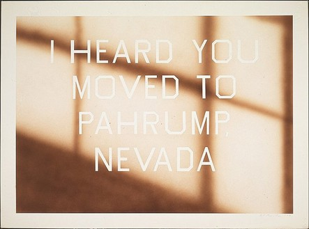 Ed Ruscha, Pahrump, 1991 Acrylic on paper, 30 1/16 × 40 1/14 inches (76.4 × 102.2 cm)