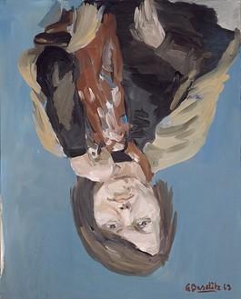 Georg Baselitz, Porträt Elke, 1969 Acrylic on canvas, 63 ¾ × 51 ⅛ inches (162 × 130 cm)