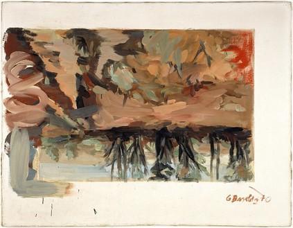 Georg Baselitz, Mühlheimer Wald (2), 1970 Acrylic on canvas, 51 ⅛ × 63 ¾ inches (130 × 162 cm)