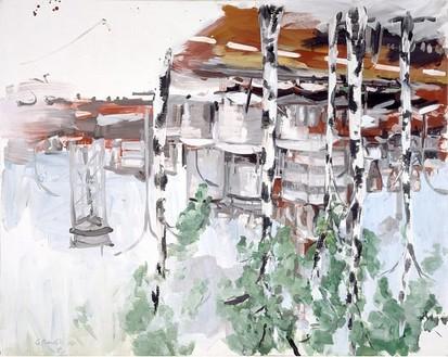 Georg Baselitz, Industrielandschaft, 1970 Acrylic on canvas, 78 ¾ × 98 ⅜ inches (200 × 250 cm)