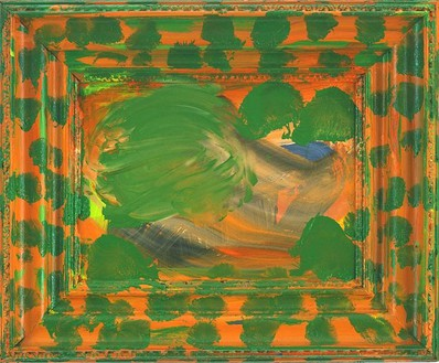 Howard Hodgkin, Afterwards, 2000 Oil on wood, 30 × 36 ½ inches (76.2 × 92.7 cm)