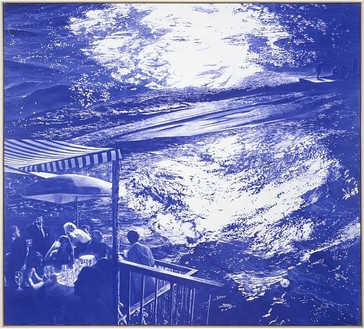 Mark Tansey, Wake, 2003 Oil on canvas, 85 ½ × 96 inches (217.2 × 243.8 cm)