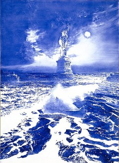 Mark Tansey, Sea Change, 2005 Oil on canvas, 84 × 60 inches (213.4 × 152.4 cm)