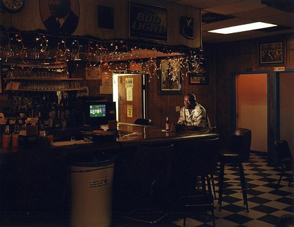 Taryn Simon, Frederick Daye; Alibi location, American Legion Post 310, San Diego, California; Where 13 witnesses placed Daye at the time of the crime; Served 10 years of a Life sentence for Kidnapping, Rape, and Vehicle Theft, from the series The Innocents, 2002 Chromogenic print, 31 × 40 inches (78.7 × 101.6 cm) or 48 × 62 inches (121.9 × 157.5 cm), both edition of 5 + 2 AP© Taryn Simon
