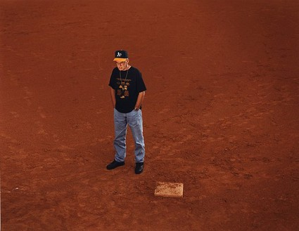 Taryn Simon, Ron Williamson; Baseball field, Norman, Oklahoma; Williamson had been drafted by the Oakland Athletics before being sentenced to death; Served 11 years of a Death sentence for First Degree Murder, from the series The Innocents, 2002 Chromogenic print, 31 × 40 inches (78.7 × 101.6 cm) or 48 × 62 inches (121.9 × 157.5 cm), both edition of 5 + 2 AP© Taryn Simon