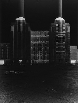 Vera Lutter, Battersea Power Station, XXV: July 29, 2004, 2004 Unique gelatin silver print, 75 ¼ × 55 ¾ inches (191.1 × 141.6 cm)