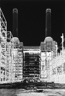 Vera Lutter, Battersea Power Station, XIII: July 13, 2004, 2004 Unique gelatin silver print, 80 ¾ × 55 ¾ inches (205.1 × 141.6 cm)
