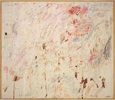 Cy Twombly, Untitled (Rome), 1961 Oil, crayon and graphite on canvas, 51 ¼ × 59 ¼ inches (130.2 × 150.5 cm)