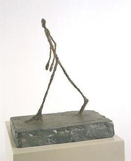 Alberto Giacometti, Man Crossing a Square (Homme traversant une place), 1949 Bronze, 26 ¾ × 31 ½ × 20 ½ inches (67.9 × 80 × 52.1 cm)