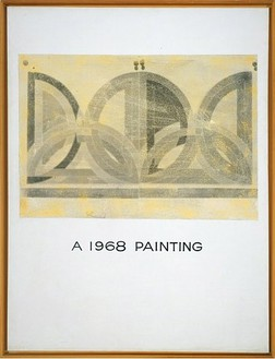 John Baldessari, A 1968 Painting, 1968 Acrylic and photo-emulsion on canvas, 59 × 45 inches (149.9 × 114.3 cm)