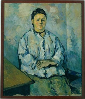 Paul Cézanne, Femme Assise, 1893–94 Oil on canvas, 22 × 18 inches (55 × 46 cm)
