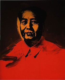 Andy Warhol, Mao, 1973 Synthetic polymer paint and silkscreen ink on canvas, 50 × 42 inches (127 × 106.7 cm)