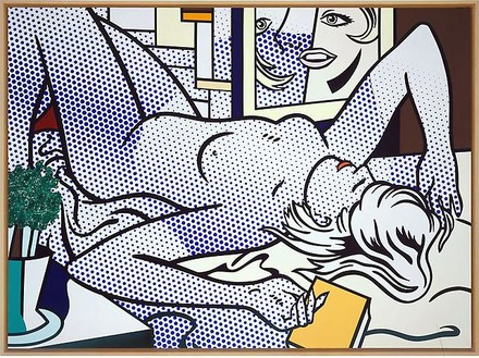 Roy Lichtenstein, Nude with Abstract Painting, 1994 Oil and Magna on canvas, 60 × 82 inches (152.4 × 208.3 cm)