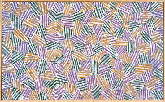 Jasper Johns, Untitled, 1980 Oil on vellum on canvas, 30 ⅜ × 54 ⅜ inches (77.2 × 138.1 cm)