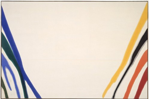 Morris Louis, Gamma Omicron, 1960 Magna on canvas, 102 × 155 ½ inches (259.1 × 395 cm)Photo by Douglas M. Parker Studio