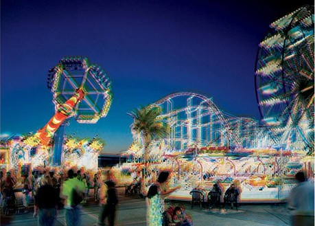 Carsten Höller, Carrara Star and Roller Coaster and Giant Wheel, 2005 C-print, 58 ¾ × 46 ¼ inches (149 × 117.5 cm)
