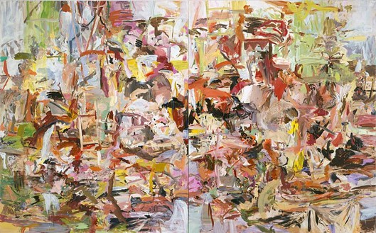 Cecily Brown, Keychains and Snowstorms, 2004 Oil on linen, Diptych: 103 × 166 inches overall (261.6 × 421.6 cm)