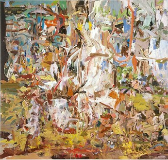 Cecily Brown, I Will Not Paint Any More Boring Leaves (2), 2004 Oil on linen, 80 × 84 inches (203.2 × 213.4 cm)