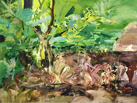 Cecily Brown, The Quarrel, 2004 Oil on linen, 72 × 96 inches (182.9 × 243.8 cm)