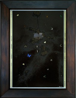 Damien Hirst, The Bilotti Paintings (canvas 1), 2004 Butterflies and household gloss with mixed media on 4 canvases, Each canvas: 108 × 72 inches (274.3 × 182.9 cm)