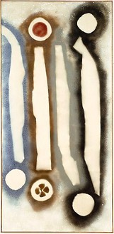 David Smith, Untitled, 1959 Spray paint and ink on canvas, 101 × 48 ½ inches (256.5 × 123.2 cm)