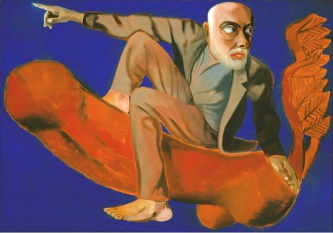 Francesco Clemente, Self Portrait in an Imperial Age, 2005 Oil on linen, 49 × 70 inches (124.5 × 177.8 cm)