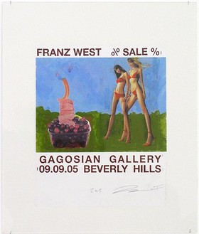 Franz West, Poster Design (Sale at Gagosian Gallery VII), 2005 Mounted collage on board, 31 ½ × 25 inches (80 × 63.5 cm)