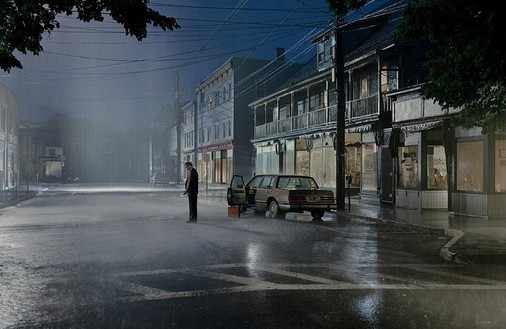 Gregory Crewdson, Untitled, 2004 Digital chromogenic print, 64 ¼ × 94 ¼ inches framed (163.2 × 239.4 cm), edition of 6