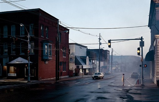 Gregory Crewdson, Untitled, 2003 Digital chromogenic print, 64 ¼ × 94 ¼ inches framed (163.2 × 239.4 cm), edition of 6