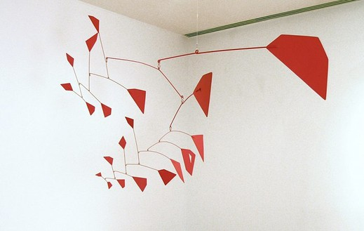 Alexander Calder, Red Polygons, 1956 Painted metal, 61 × 96 × 42 inches (154.9 × 243.8 × 106.7 cm)