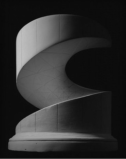 Hiroshi Sugimoto, Helicoid: Minimal Surface, 2004 Gelatin silver print, 59 × 47 ¼ inches (150 × 120 cm), edition of 5
