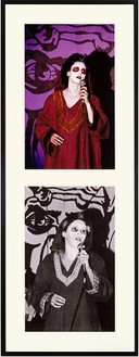 Mike Kelley, Extracurricular Activity Projective Reconstruction #19 (Shy Satanist), 2005 Piezo print on rag paper (b&w;) and chromogenic print (color), Each image: 30 × 18-11/16 inches (76.2 × 47.5 cm), edition of 5