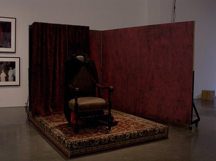 Mike Kelley, Lonely Vampire, 2005 Mixed media with video projection, 7 × 10 × 8 feet (2.1 × 3 × 2.4 m)