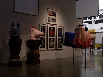 Mike Kelley, Horse Busts, Horse Bodies, 2005 Mixed media with video projection, Dimensions variable