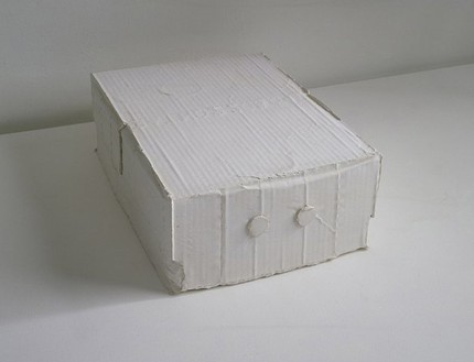 Rachel Whiteread, Keep, 2004 Plaster, 4 ¾ × 10 × 13 ½ inches (12.2 × 25.5 × 34.5 cm)